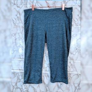 Athleta   teal workout capri legging